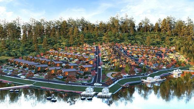 Phối cảnh sản phẩm đất nền nghỉ dưỡng của công ty Kingdom Land tại Bảo Lộc.