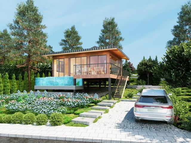 Trên nền đất, khách hàng có thể xây cho mình một căn nghỉ dưỡng theo phong cách cá nhân. Khách mua sản phẩm đất nền sẽ được công ty tư vấn thiết kế phù hợp với cảnh quan và hỗ trợ thủ tục pháp lý giấy phép xây dựng.