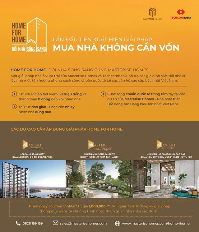 Sau bất động sản hàng hiệu là giải pháp nhà đổi nhà: chiến lược của Masterise Homes là gì? - Ảnh 2.