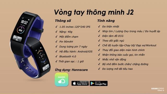 """Bật mí """"sức hút"""" của chiếc vòng tay thông minh smartband J2 - Ảnh 1."""