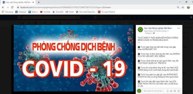 Học viện Nông nghiệp Việt Nam chung tay phòng, chống dịch Covid-19 - Ảnh 2.