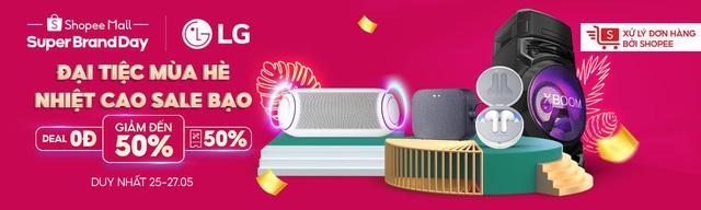 Đại tiệc mùa hè từ LG bùng nổ hàng ngàn quà tặng và voucher phủ sóng toàn Shopee - Ảnh 1.