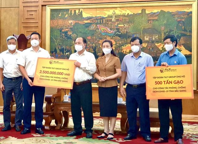 T&T group ủng hộ 1.000 tấn gạo và 5 tỷ đồng tiếp sức cho Bắc Ninh, Bắc Giang chống dịch - Ảnh 2.