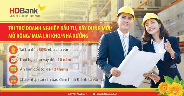 Đầu tư nhà xưởng nhà kho – Lo nguồn vốn đã có HDBank - Ảnh 1.
