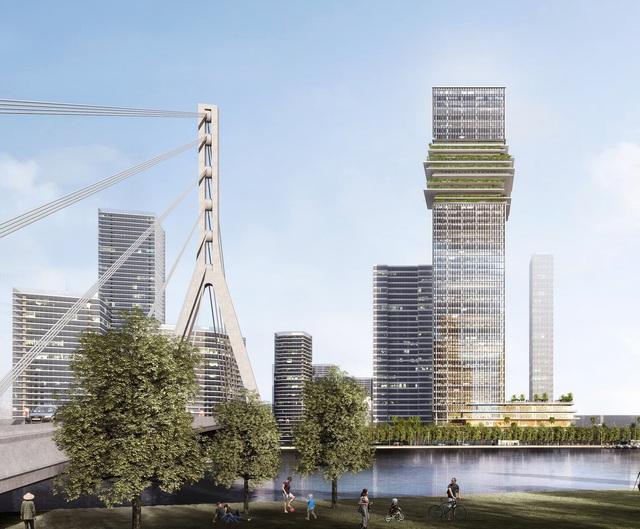 Hiện trạng The Sun Tower trong khu phức hợp Grand Marina - Ảnh 2.