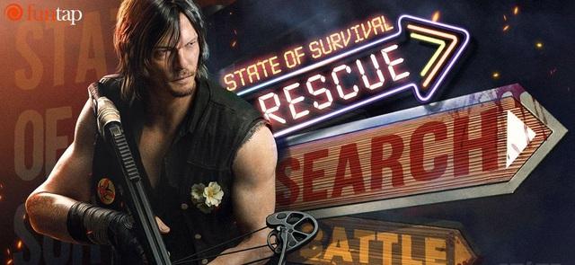 """Daryl Dixon đã có mặt và sẵn sàng chiến đấu sau """"cú bắt tay lịch sử"""" giữa State of Survival và The Walking Dead - Ảnh 1."""