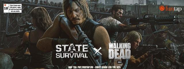 """Daryl Dixon đã có mặt và sẵn sàng chiến đấu sau """"cú bắt tay lịch sử"""" giữa State of Survival và The Walking Dead - Ảnh 2."""