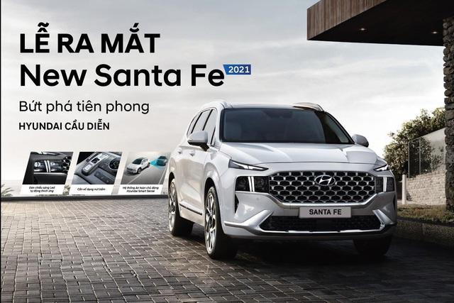 Hyundai Cầu Diễn ra mắt xe Santa Fe 2021 - Ảnh 1.