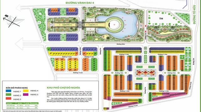 Bản đồ vị trí và quy hoạch Khu phố chợ Đô Nghĩa