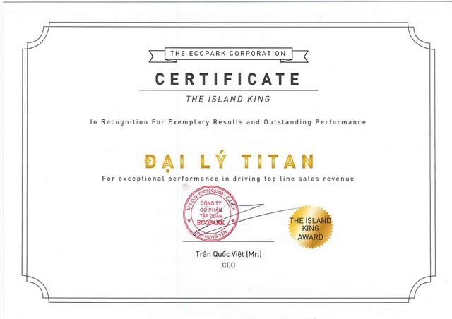Những giải thưởng danh giá của Titan Luxury tại Ecopark - Ảnh 2.
