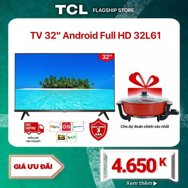 """Top 6 Smart TV chính hãng """"hịn mịn"""", giá chỉ từ 5 triệu cho anh em """"tới bến"""" mùa Euro Cup - Ảnh 5."""
