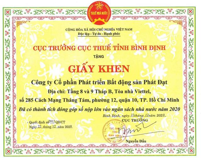 Chỉ trong 2 năm, Phát Đạt hoàn thành nộp thuế gần 1.000 tỷ đồng - Ảnh 2.
