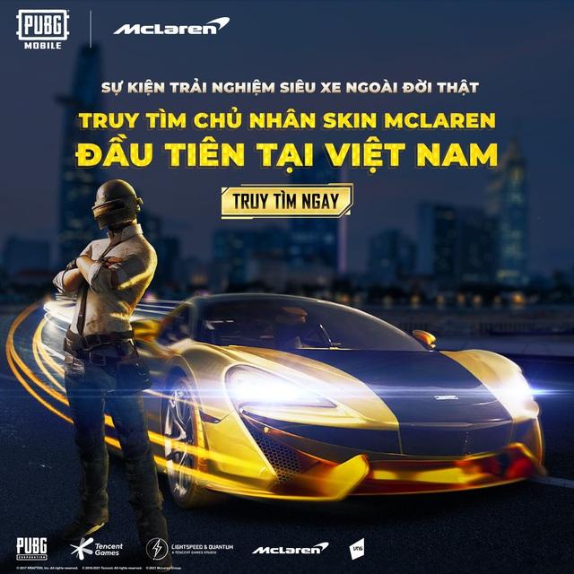 Hợp tác hãng xe McLaren, PUBG Mobile tung event hấp dẫn, siêu tốc bậc nhất làng game tháng 6 - Ảnh 2.