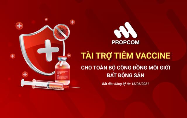 Propcom tài trợ test Covid-19 và tiêm vaccine miễn phí cho môi giới bất động sản - Ảnh 1.