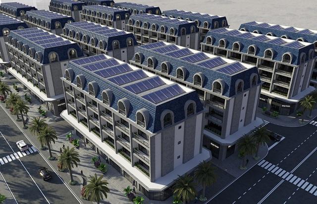 Điện năng lượng mặt trời áp mái tại Shophouse An Cựu City