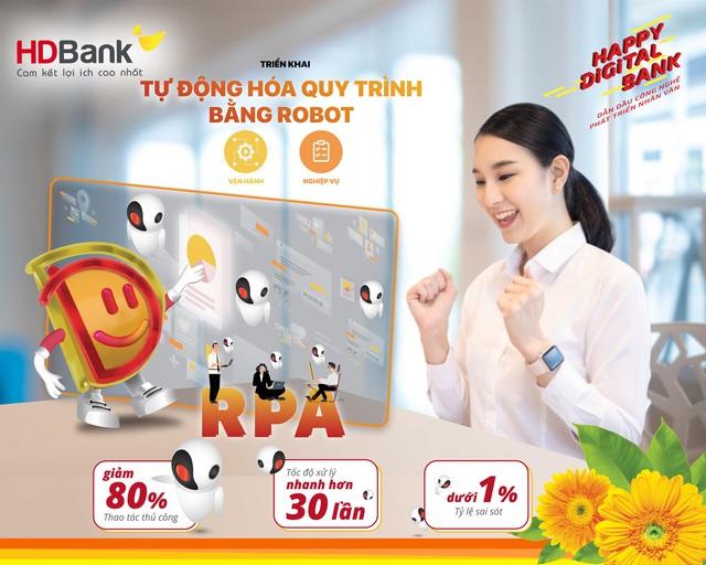 HDBank đẩy mạnh chuyển đổi số với công nghệ tự động hoá RPA - Ảnh 1.
