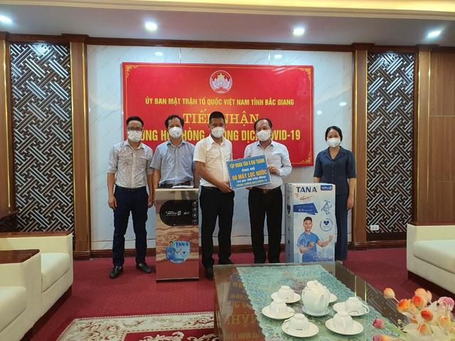 Tân Á Đại Thành tặng máy lọc nước cho bệnh viện dã chiến Bắc Giang, Bắc Ninh - Ảnh 1.