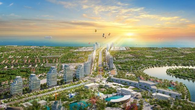 Đại lộ trung tâm kết nối quảng trường biển với tổ hợp vui chơi giải trí Sun World và KĐT nghỉ dưỡng ven sông Đơ