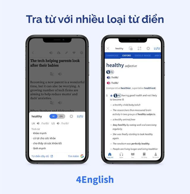 Ứng dụng Make in Vietnam giúp bạn vừa đọc báo vừa học tiếng Anh một công đôi việc - Ảnh 3.