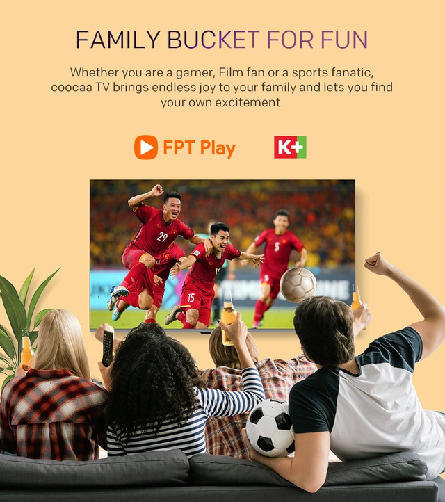 Đón đầu Euro 2020, coocaa chiêu đãi tín đồ bóng đá Việt Nam bằng dòng TV S6G Pro Max mới - Ảnh 3.