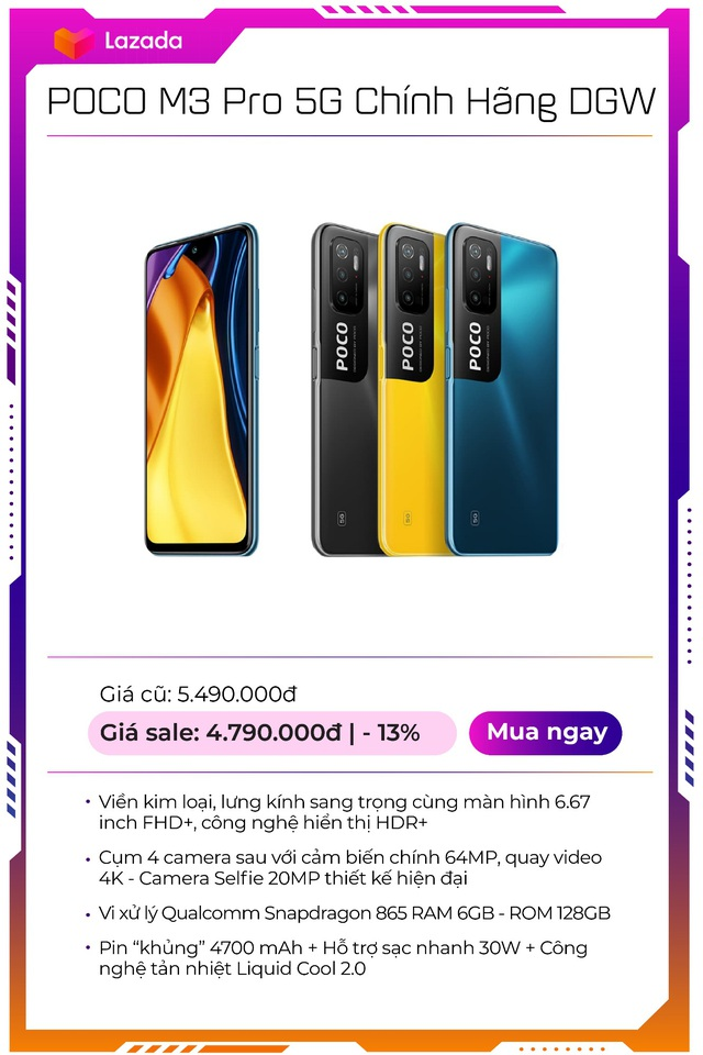 """Top 9 mẫu smartphone off 50% """"nóng hổi"""", duy nhất trong Lễ hội mua sắm lớn nhất hè của Lazada - Ảnh 8."""