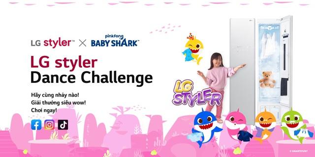Bạn đã sẽ lỡ mất một trò vui nếu chưa tham gia cover điệu nhảy Pinkfong Baby Shark X LG Styler - ảnh 1
