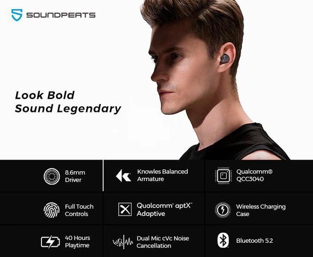 Tai nghe SoundPEATS H1: Driver BA + Dynamic cân bằng âm thanh, Game mode và 40 giờ chơi nhạc - Ảnh 2.