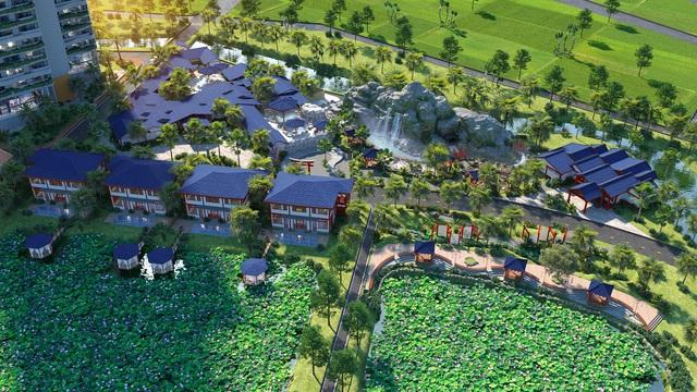 Tổng quan khu tổ hợp dịch vụ khoáng nóng King Garden Onsen, dự án Wyndham Vườn Vua Thanh Thủy