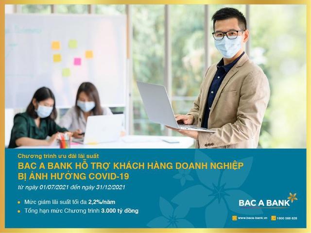 Bac A Bank ưu đãi lãi suất cho khách hàng doanh nghiệp bị ảnh hưởng bởi Covid-19 - Ảnh 1.