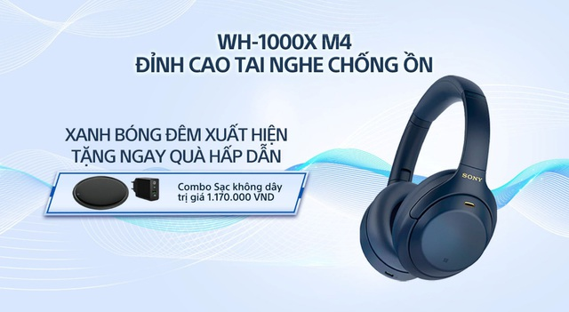 Sony giới thiệu tai nghe chống ồn đỉnh cao WH-1000XM4 phiên bản Xanh bóng đêm hoàn toàn mới - Ảnh 1.