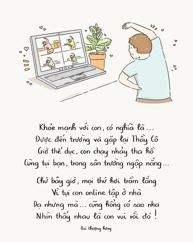 Ấn tượng với bộ tranh thơ truyền cảm hứng về lối sống khỏe mạnh trong mùa dịch - Ảnh 4.