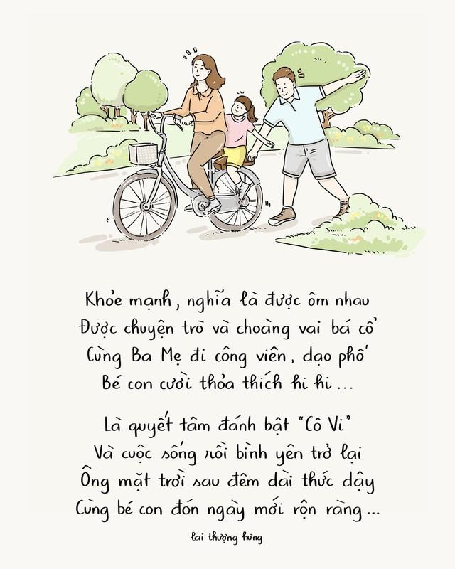 Ấn tượng với bộ tranh thơ truyền cảm hứng về lối sống khỏe mạnh trong mùa dịch - Ảnh 6.