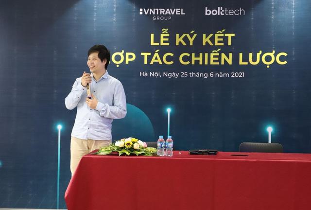 Lễ ký kết thỏa thuận hợp tác giữa VNTravel và Bolttech - Ảnh 1.