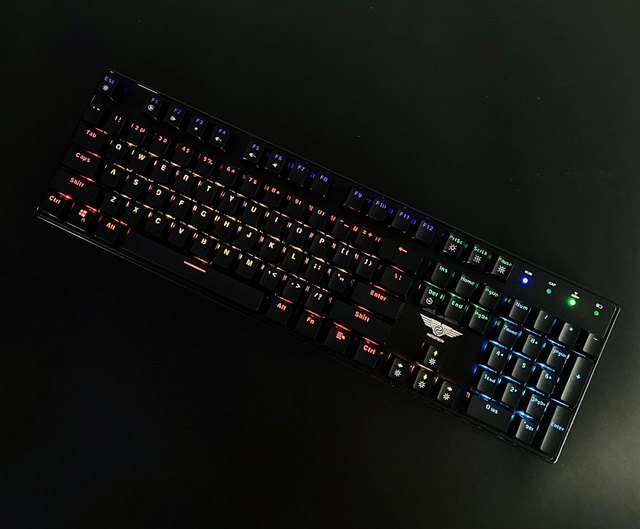 Bàn phím cơ không dây Dual Mode Newmen GM335 hai chế độ, ánh sáng đầy màu sắc - Ảnh 4.