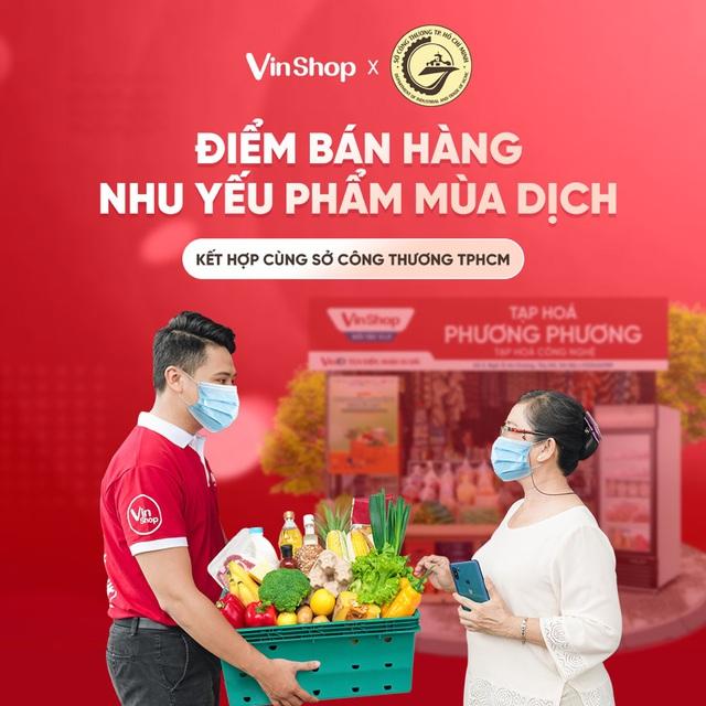 VinShop, VinID góp sức đưa nhu yếu phẩm đến tay người dân TP.HCM giữa tâm dịch - Ảnh 1.