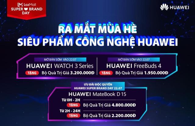 Huawei cùng Lazada mở siêu phẩm sale hè: 1 ngày ưu đãi toàn gian hàng, quà 700k cho đơn từ 3 triệu và chính thức mang Huawei Matebook D 15 về Việt Nam - Ảnh 1.