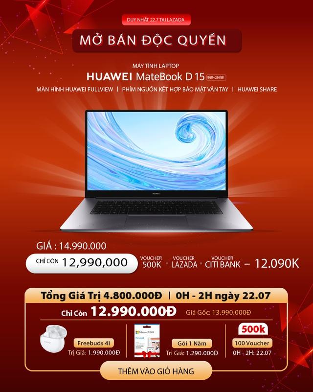 Huawei cùng Lazada mở siêu phẩm sale hè: 1 ngày ưu đãi toàn gian hàng, quà 700k cho đơn từ 3 triệu và chính thức mang Huawei Matebook D 15 về Việt Nam - Ảnh 7.
