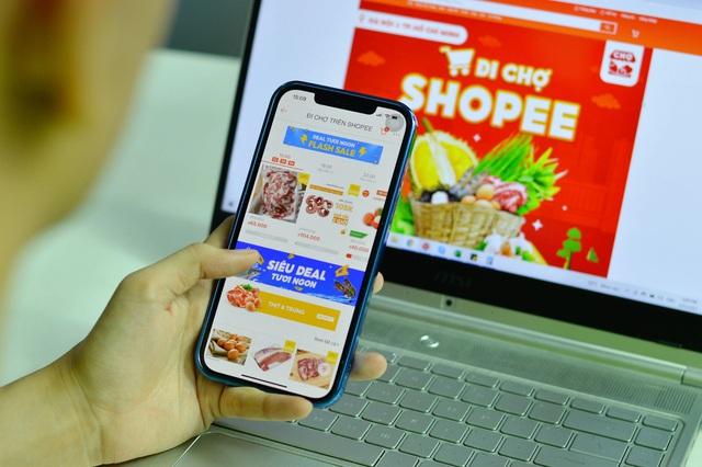 """""""Đi chợ Shopee"""": Lựa chọn mới để mua thực phẩm, nhu yếu phẩm mùa giãn cách - Ảnh 1."""