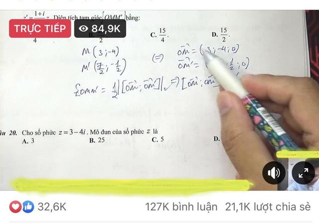 Một buổi dạy Toán qua livestream Facebook thu hút 85.000 người xem - Ảnh 2.