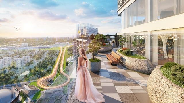 Vườn Nhật thơ mộng trên mái tầng 43 được MIKGroup đầu tư bài bản