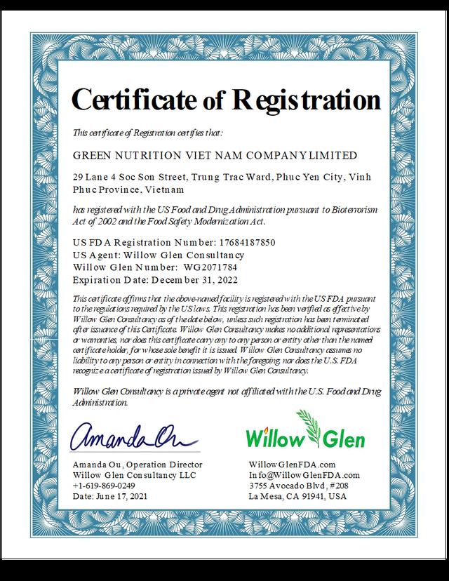 Green Nutrition – đơn vị phân phối TPBVSK Norikid Plus chính thức đạt chứng nhận FDA Hoa Kỳ - Ảnh 1.
