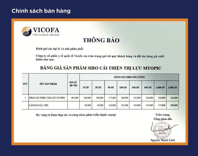 Dược phẩm Vicofa tham vọng đưa Myopic phủ sóng toàn quốc - Ảnh 1.