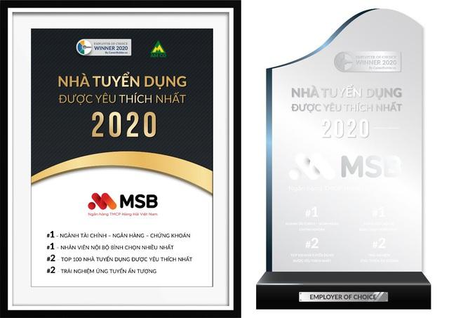 MSB thuộc top nhà tuyển dụng được yêu thích nhất 2020 do CareerBuilder công bố - Ảnh 1.