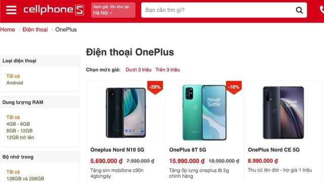 Loạt Smartphone Oneplus mở bán tại CellphoneS, nhiều ưu đãi quà tặng - Ảnh 1.