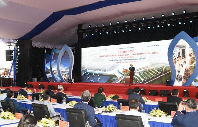 Hình ảnh Lễ Khởi công sân bay Long Thành ( Ảnh: VGP/Quang Hiếu)