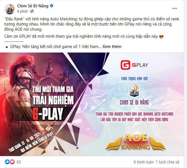Cộng đồng khán giả hâm mộ AoE dậy sóng vì chia sẻ của Chim Sẻ Đi Nắng và các game thủ AoE khác - Ảnh 2.