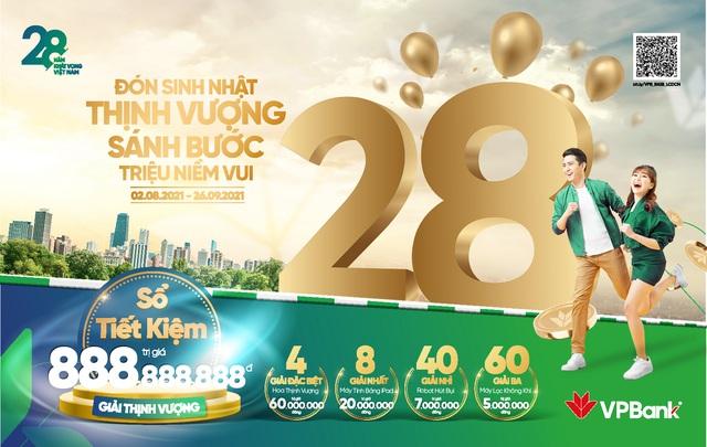 """Chào sinh nhật tuổi 28, VPBank tung """"cơn mưa"""" quà tặng cho khách hàng - Ảnh 1."""