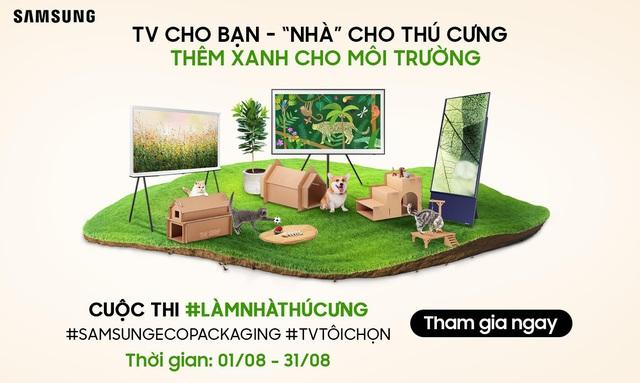 Samsung lan tỏa sống xanh với cuộc thi 'Làm nhà thú cưng' từ bao bì sinh thái - Ảnh 1.