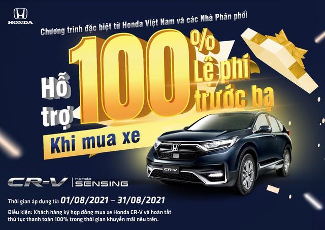 Nhận ngay ưu đãi 100% lệ phí trước bạ khi mua Honda CR-V trong tháng 8 - Ảnh 3.