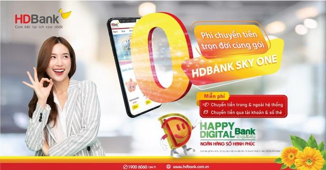 Miễn phí chuyển tiền không giới hạn cùng gói HDBank Sky One - Ảnh 1.
